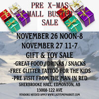 November Mall Buster Pre-Xmas Sale
