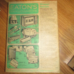 1976 Eaton's Catalogue in Original Sleeve