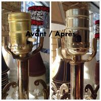 Réparation de lampe et chandelier! Lamp and chandelier repair