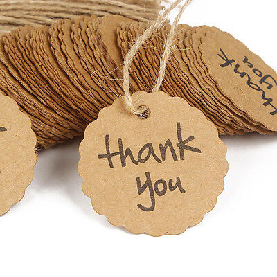 100 Thank You Round Paper Labels Cake Decorating Chocolate Pastry Sealing Tags