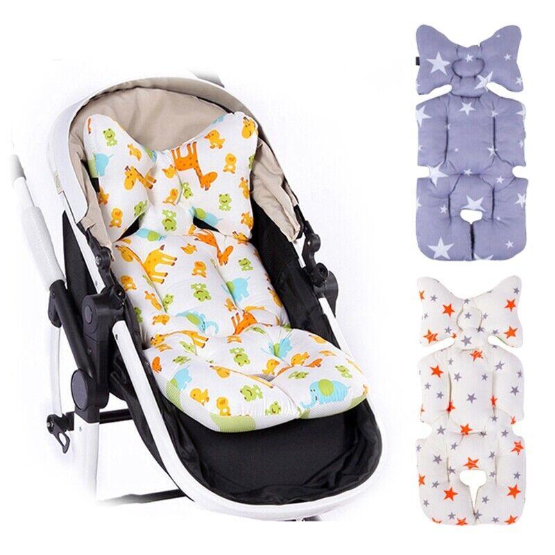 Baby Stroller Buggy Pram Deer Star Pattern Pushchair Pad Liner Mat Seat Cushion