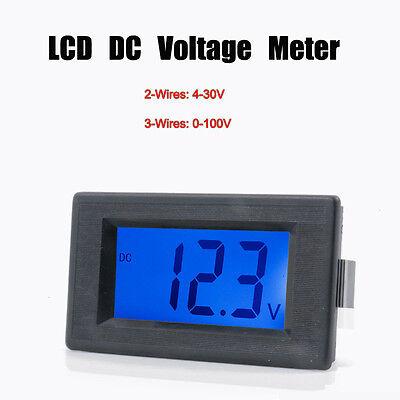 Dc 0-100v Digital Lcd Display Volt Voltage Panel Meter Voltmeter 23-wires New