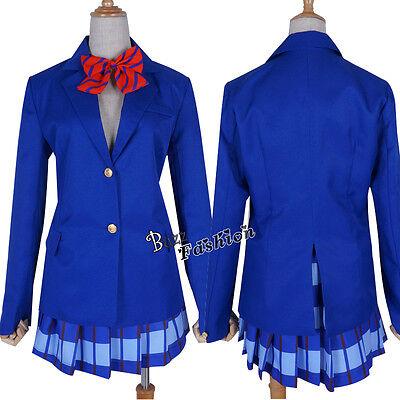 US Anime Women Blue Uniform Cosplay Costume Party Dress](Anime Blue Dress)
