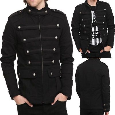 Hot Men  Steampunk Gothic Clothes Rock Zipper Vintage Jacket Outwear Short Coat (Steampunk Clothing Men)