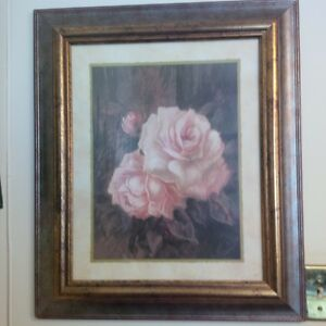 Framed Picture Roses in Bloom