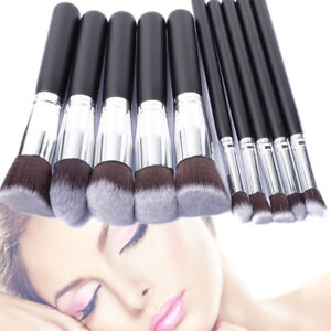 Foundation Makeup Brush Flat Top Kabuki Powder Liquid Cream Contour Bronzer Kit