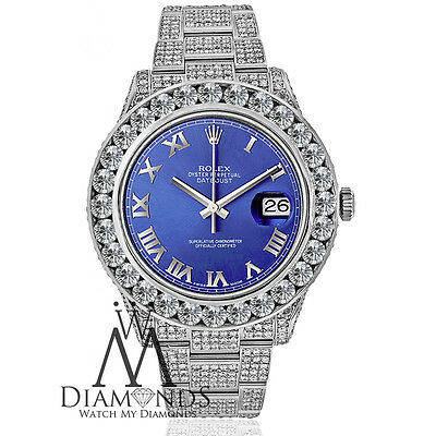 Rolex 116300 Datejust 2 Stainless Steel 41mm Watch with 30 carats of Diamond