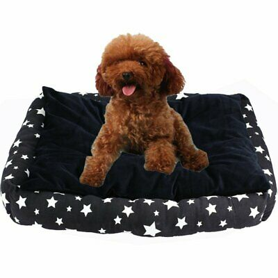 Deluxe Soft Washable Dog Pet Warm Basket Bed Cushion with Fleece Lining