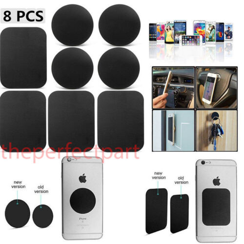 8 Pack Metal Plates Sticker Replace For Magnetic Car Mount Magnet Phone Holder