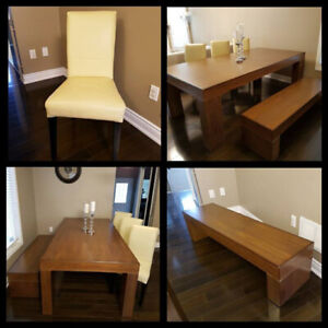 100% Solid Walnut Dining Table for 8
