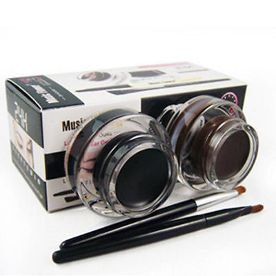 Best 2 in 1 Brown and Black Gel Eyeliner Make Up Water-proof And