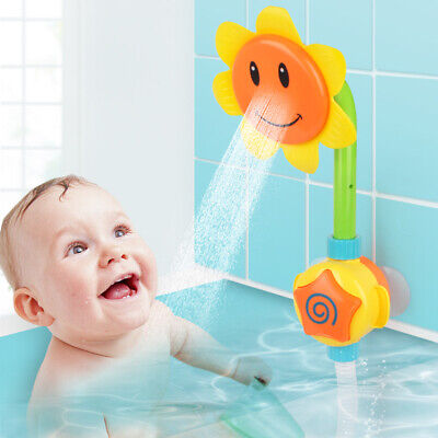 Children Creative Bath Playing Toys Electric Sunflower Water Spray Shower
