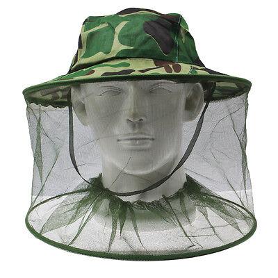 Moskitohut Mückenschleier Insektenschutz Imkerhut - UNIVERSAL - Camouflage (Schleier Hut)
