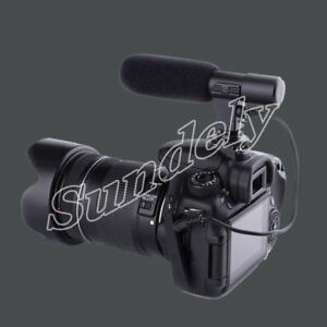 External Stereo Microphone Mic For Canon Nikon DSLR Camera DV Camcorder UK Stock