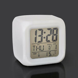 Modern LCD Display Digital Alarm Clock LED With Calendar Electronic Desk Table