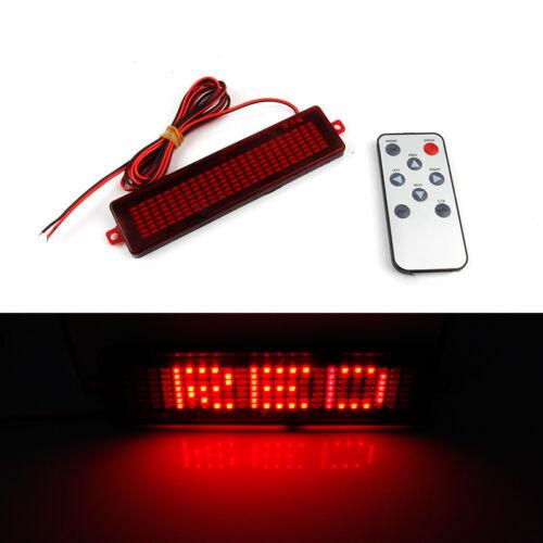 Car Rear Windshield SMD LED Brake Light Tail Signal Lamp Red DIY Letter Words