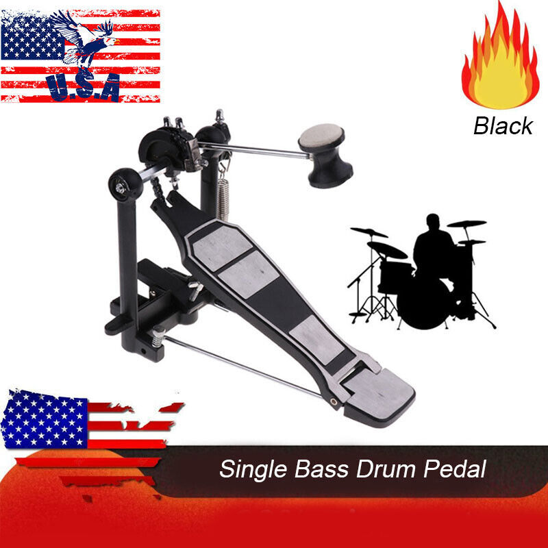 Single Bass Drum Pedal Drive Music Foot Percussion Stepping Adult Adjustable New