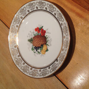 Fine China Pineapple plate with gold trim