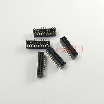 10pcs 1.27mm Pitch 2x10 Pin 20 Pin Female Double Row Smt Smd Pin Header Strip