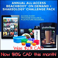Shakeology and All Access Beachbody on Demand  --- AMAZING deal