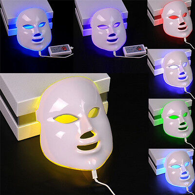 7 Colors Light Photon LED Electric Facial Mask PDT Skin Rejuvenation Therapy