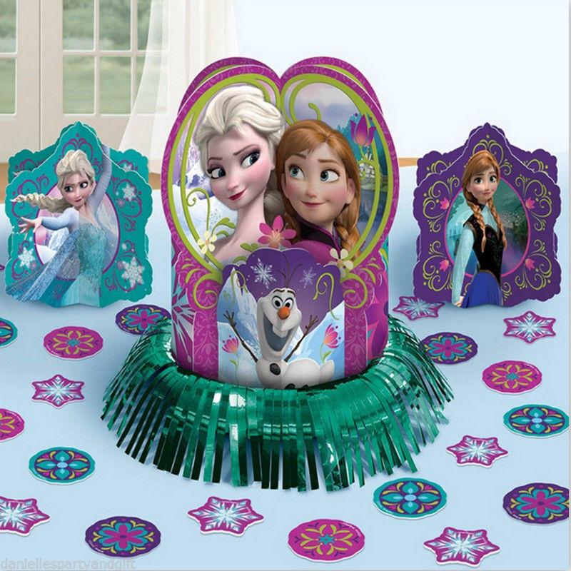 FROZEN TABLE DECORATION KIT Centerpiece confetti Anna Elsa ...