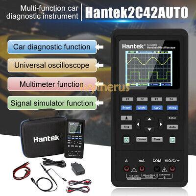 Hot Hantek 2 Channel 2in1 Handheld Oscilloscope 2c42 Dmm Multimeter Tester Us
