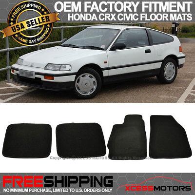 Honda Crx Civic Oem Rear (Fits 88-91 Honda CRX Civic OE Factory Fitment Floor Mats Carpet Front Rear Nylon )