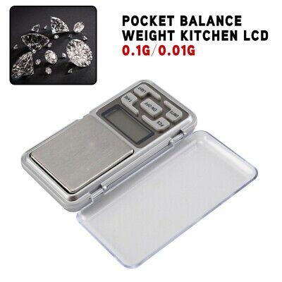 Kitchen Portable Mini Digital Scale Jewelry Pocket Balance Weight LCD 0.1g 0.01g