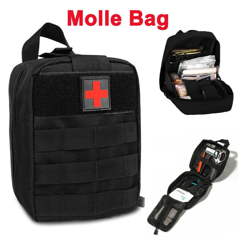 Molle Bag Tactical First Aid Kit IFAK Medical EMT Bag Emergency Survival Pouch
