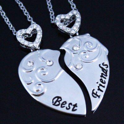 Black Friday Besten Freunde Herz Halsketten Weihnachten Geschenke für