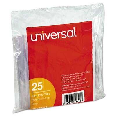 Universal Hanging File Folder Plastic Index Tabs 13 Tab Cut 3 087547433133