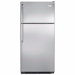 """Frigidaire FFHT1821QS3 30"""" Top Freezer Fridge Stainless NEW"""