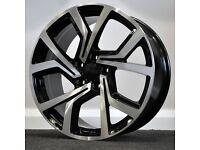 "**18"" GTI Concept Alloys & tyres for VW Golf MK5 MK6 MK7 Jetta Caddy Seat Leon Audi A3 etc**"