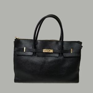 Vintage Women's Black Leather Satchel