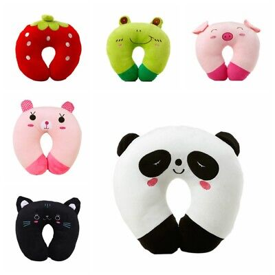 U Shape Toy Animal Pillow For Baby Kid Travel Car Seat Neck Rest Soft - Childrens Travel Neck Pillow