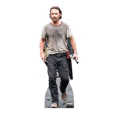 RICK GRIMES v3 Walking Dead Lincoln Lifesize CARDBOARD CUTOUT Standee Standup