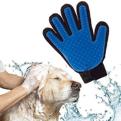Pet Dog Cat Gentle Deshedding Brush Grooming Glove Massage Hair Fur Removal Tool Brushes, Combs & Rakes
