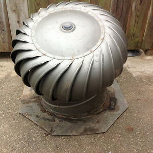 14 in. Brown Aluminum Externally Braced Wind Turbine