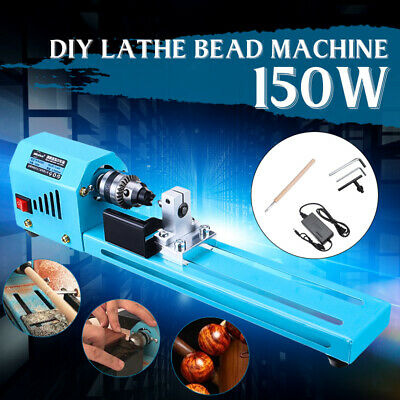 150w Diy Mini Wood Lathe Standard Bead Cutting Machine Drill Polishing Tool