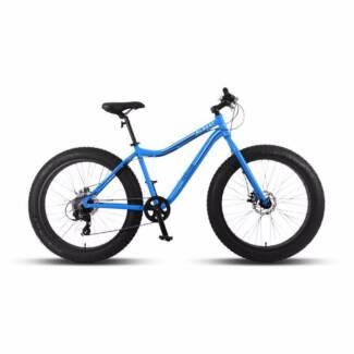 """Progear Albert 26 x 17"""" Fat Tyre Mens Bike Bright Blue"""
