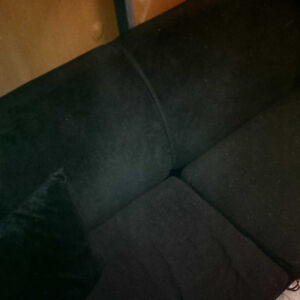 Black Sofa Bed love seat Pullou (Moving)   $199