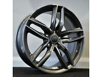 "18"" RS6C Style Alloy Wheels. Seat, Audi A3,A4, VW Passat, Jetta, Golf MK5, MK6, MK7,Caddy"
