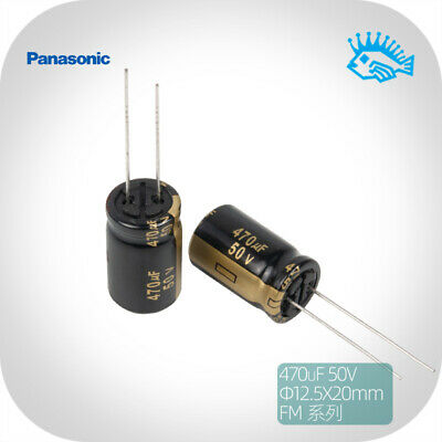 470uf 50v Panasonic Fm Series Fever Audio Electrolytic Capacitor Low Esr 12.5x20