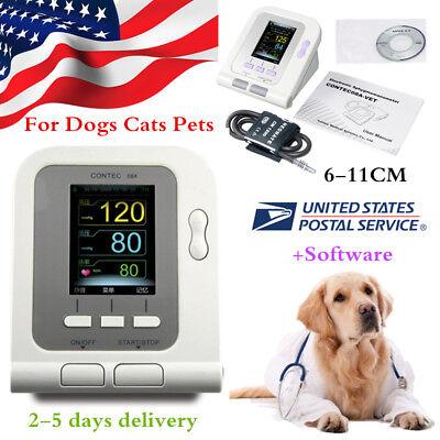 Fda Vet Veterinary Lcd Digital Blood Pressure Monitor Nibp 6-11cm Pet Cuff Usa