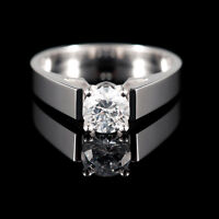 14K Or Bague de Fiançailles 0.95CT Diamond Engagement Ring
