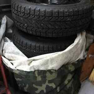4 Winter tires, 205/60R16 on steel rim