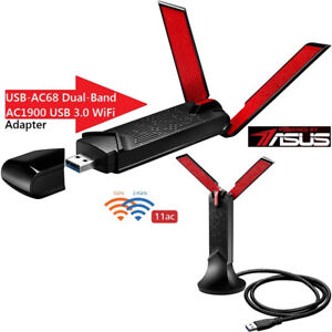Asus USB-AC68 Dual-Band AC1900 USB 3.0 Wi-Fi Adapter