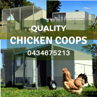 NEW Quality Chicken Coops / Chook Houses, Tractors
