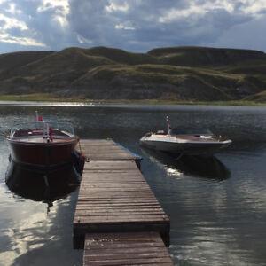 Seasonal lakefront RVv site